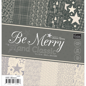 "Be Merry And Classic Paper Pad 12""X12"" 24/Pkg"