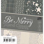 "Be Merry And Classic Paper Pad 6""X6"" 24/Pkg"