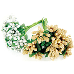 Gold & Silver - Be Merry And Classic Bouquets 2/Pkg
