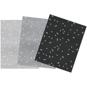 Embellished Stars - Be Merry And Classic A4 Specialty Paper 6/Pkg