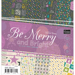 """Be Merry And Bright Paper Pad 12""""X12"""" 24/Pkg"""