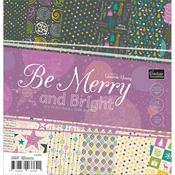 "Be Merry And Bright Paper Pad 12""X12"" 24/Pkg"