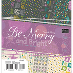 """Be Merry And Bright Paper Pad 6""""X6"""" 24/Pkg"""
