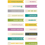 Be Merry And Bright Mini Tags 20/Pkg