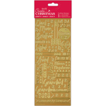 Contemporary Christmas Relations -Gold - Papermania Outline Stickers