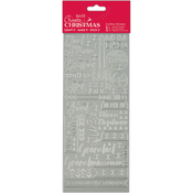 Contemporary Christmas Relations-Silver - Papermania Outline Stickers