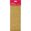 Traditional Christmas Verses - Gold - Papermania Outline Stickers