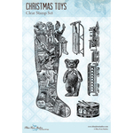 "Christmas Toys - Blue Fern Studios Clear Stamps 4""X6"""