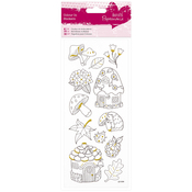 Toadstools - Papermania Glitter Colour In Stickers