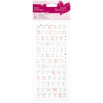 Uppercase Alphabet - Papermania Glitter Dot Stickers