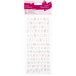 Lowercase Alphabet - Papermania Glitter Dot Stickers
