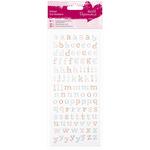 Lowercase Alphabet - Papermania Glitter Dot Stickers