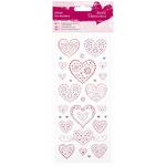 Love Hearts - Papermania Glitter Dot Stickers