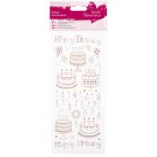 Happy Birthday - Papermania Glitter Dot Stickers