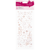 Flourishes Orange & Pink - Papermania Glitter Dot Stickers
