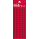 Red - Papermania Create Christmas Adhesive Stones 1530/Pkg