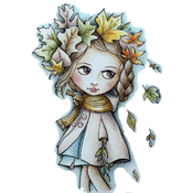 """Chilly Daze - Dollhouse Cling Stamp 4""""X7"""""""