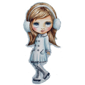 """Chill - Dollhouse Cling Stamp 4""""X7"""""""