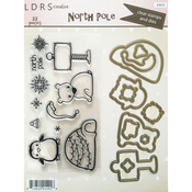 North Pole - Little Darlings Clear Stamps & Dies Set 22pc