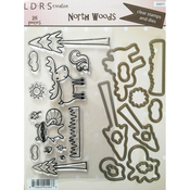 North Woods - Little Darlings Clear Stamps & Dies Set 26pc