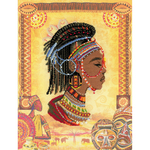 "11.75""X15.75"" 14 Count - African Princess Counted Cross Stitch Kit"