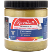 Gold - Opaque Fabric Screen Printing Ink 8 Ounces