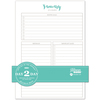 """Day 2 Day Planner 129 Page Insert 6""""X8.5"""""""