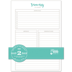 "Day 2 Day Planner 129 Page Insert 6""X8.5"""