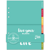 "Monthly - Day 2 Day Planner Folder Dividers 6""X8.5"" 12/Pkg"
