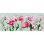 """27.5""""X11.75"""" 14 Count - Spring Tulips Counted Cross Stitch Kit"""