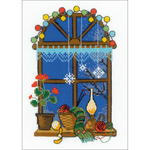 """6""""X8.25"""" 14 Count - Winter Window Counted Cross Stitch Kit"""