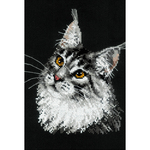 "8.25""X11.75"" 10 Count - Main Coon Counted Cross Stitch Kit"