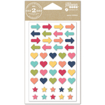 Arrows, Hearts & Stars - Day 2 Day Planner Epoxy Stickers