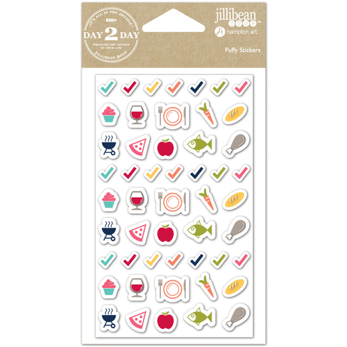 Meal Time - Day 2 Day Planner Puffy Stickers