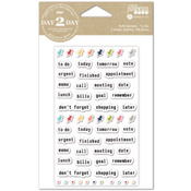 To Do - Day 2 Day Planner Puffy Stickers