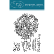 """Beautiful Bouquet - Technique Tuesday Clear Stamps 3""""X4"""""""
