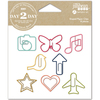 Everyday - Day 2 Day Planner Shaped Clips 8/Pkg