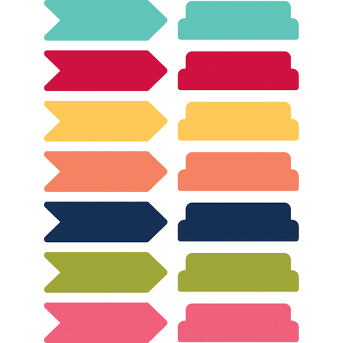 Arrows & Tabs/7 Colors Each - Day 2 Day Planner Sticky Notes 14/Pkg