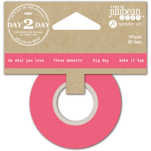 """Moments - Day 2 Day Planner Washi Tape 1""""X30'"""