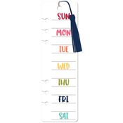 "Days Of The Week - Day 2 Day Planner Bookmark Insert 2.5""X8.25"""