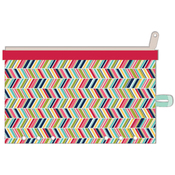"Chevron - Day 2 Day Planner Zipper Pouch 5""X8"""