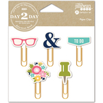 Glasses - Day 2 Day Planner Decorative Clips 5/Pkg