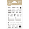 """Events - Day 2 Day Planner Clear Stamps 3.5""""X6"""""""