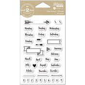 "Calendar - Day 2 Day Planner Clear Stamps 3.5""X6"""