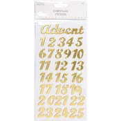 Advent Gold Foil - Trimcraft Simply Creative Christmas 3D Stickers