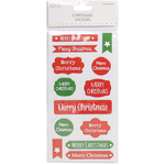 Labels Merry Christmas - Trimcraft Simply Creative Christmas 3D Stickers