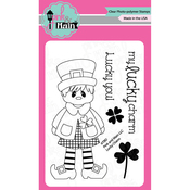 "Lucky Charm - Pink & Main Clear Stamps 3""X4"""