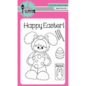 """Bunny Costume - Pink & Main Clear Stamps 3""""X4"""""""