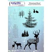 "Winterland Wood - IndigoBlu Cling Mounted Stamp 8""X5.5"""