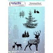 "Winterland Wood - IndigoBlu Cling Mounted Stamp 8""X5.5"""